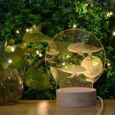 水晶内雕照片_新款3D亚克力内雕创意小夜灯usb氛围浪漫台灯 - WOW礼品逛逛